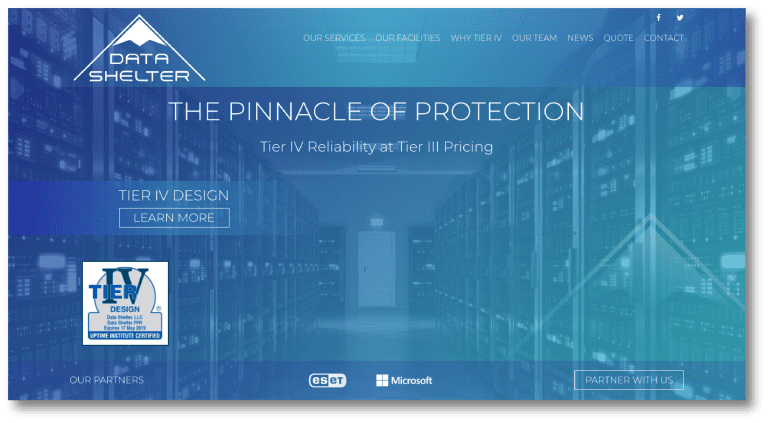 Screenshot of a website designed by Smarter Web